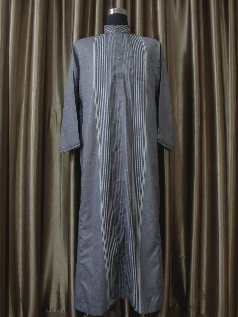 Baju gamis cowok dan pria kain halus warna hitamlengan panjang terbaru