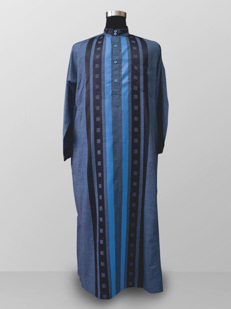Baju gamis pria lengan panjang warna biru terbaik